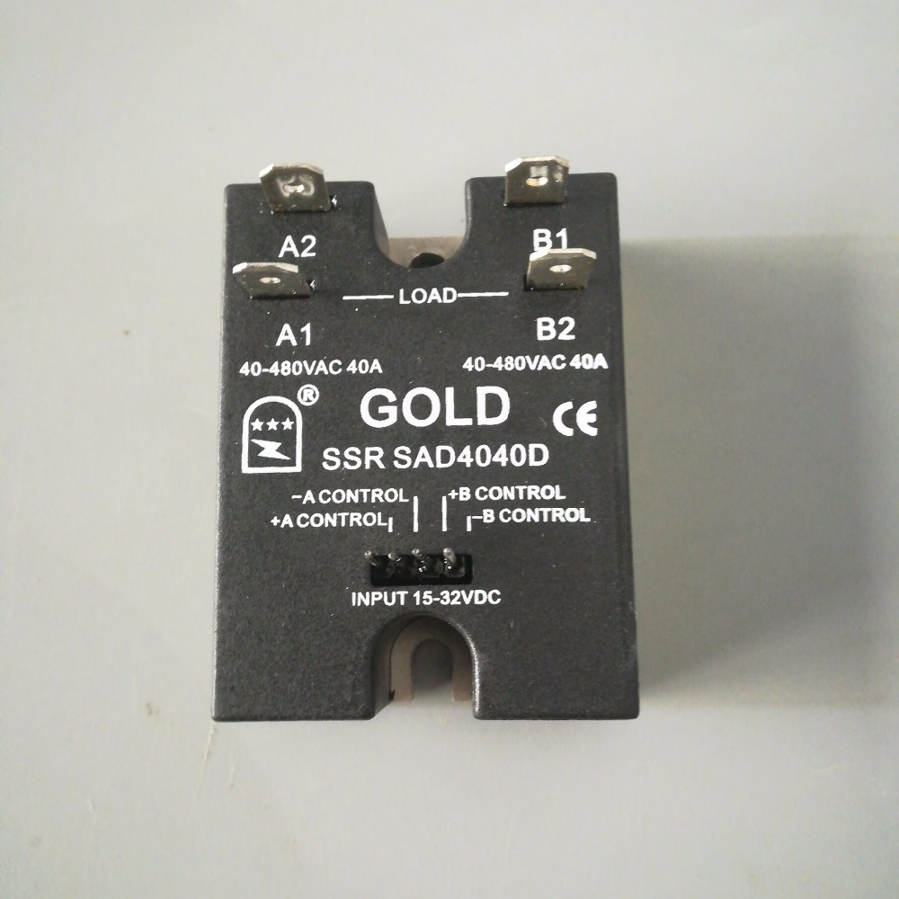 40a Dual Output 15 32v Voltage Solid State Relay Sad4040d