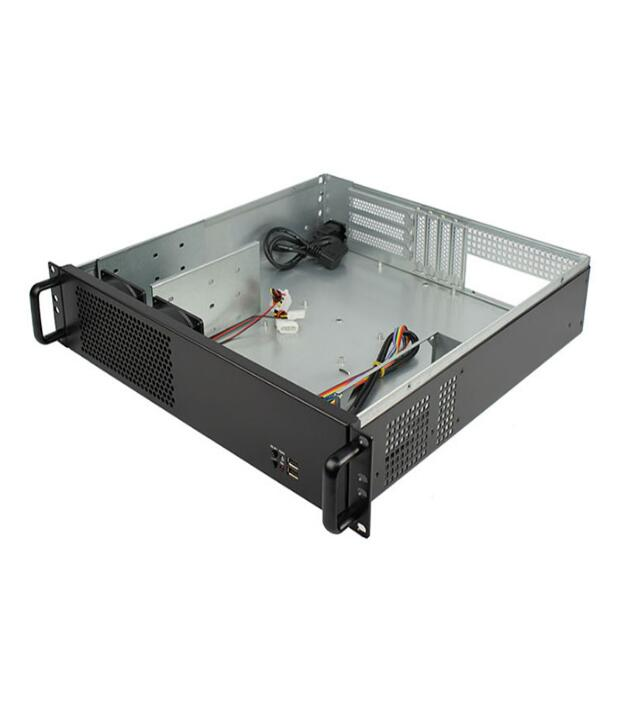 New 2U Computer Case Industrial Computer Case 450mm 2U Server Short Box PC Large-Panel Big Power Supply new 3u ultra short 3u computer case 380 3u industrial computer case 7 hard drive aluminum panel