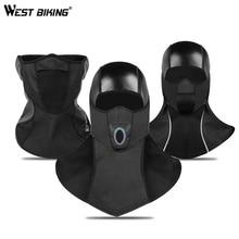 WEST BIKING Winter Cycling Face Mask Thermal Fleece Bicycle Headwear Training Cap Outdoor Snowboard Shield Hat Bike Mask