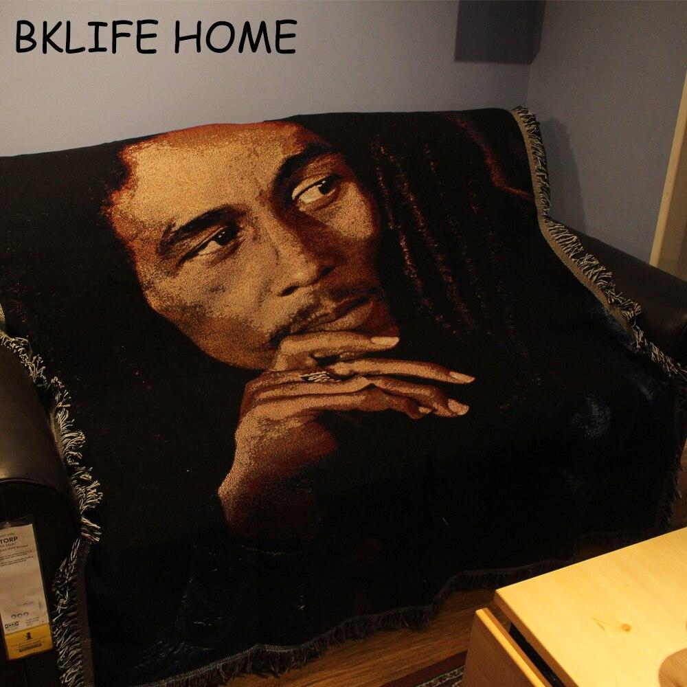couvre lit bob marley Multifonction Coton Tapis Reggae Style Bob Marley Canapé  couvre lit bob marley