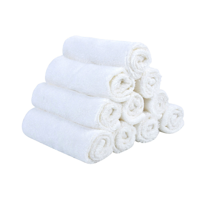 Bamboo Fiber White Color Washing Towel Baby Feeding Face Towels Infant Wipe Wash Cloth Newborns Handkerchief Bath Towel