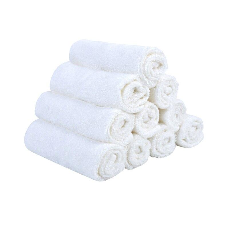 Bamboo Fiber White Color Washing Towel Baby Feeding Face Towels Infant Wipe Wash Cloth Newborns Handkerchief Bath Towel