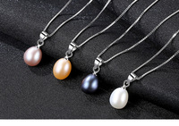 New S925 Sterling Silver Necklace Natural Freshwater Pearl Necklace CSG07