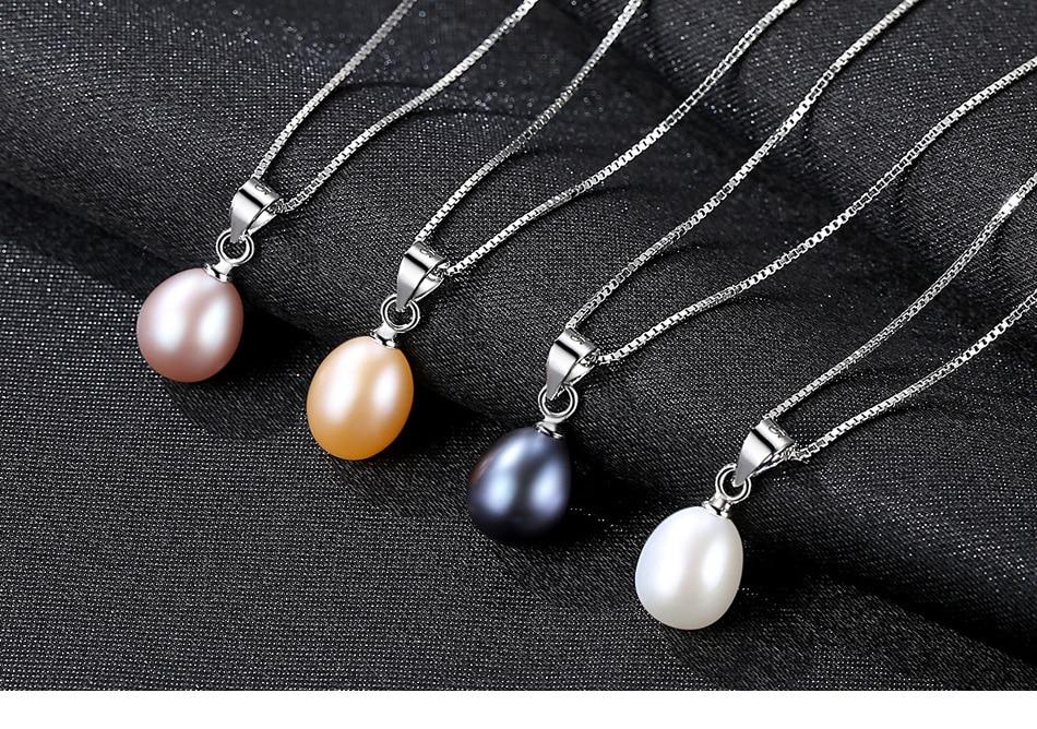 Nouveau collier en argent Sterling S925 collier de perles d'eau douce naturelles CSG07