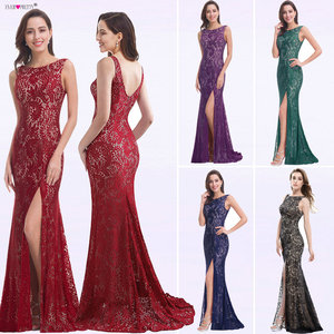Image 1 - Mermaid Evening Dress Ever Pretty EP08859 2020 Long Sexy Sleeveless Split Formal Celebrity Lace Evening Gown Dresses robe longue