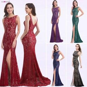 Image 1 - Mermaid akşam elbise hiç güzel EP08859 2020 uzun seksi kolsuz bölünmüş resmi ünlü dantel gece elbisesi elbiseler robe longue