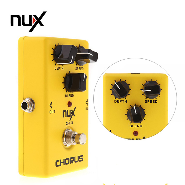 NUX CH-3 Violao Guitar Guitarra Electric Effect Pedal Chorus Low Noise BBD High Quality True Bypass Yellow Musical Instrument