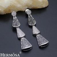HERMOSA Nuovi monili New Wedding Jewelry 925 Sterling Silver Bella forma Di Bambù 6 scelta di colore Orecchino ST106