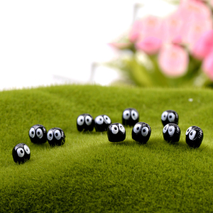 ZOCDOU 15 Pieces Black Coal Ball Small Statue Moss Doll Toy Child Play House Figurine Court Germ Army Simulation Garden Ornament