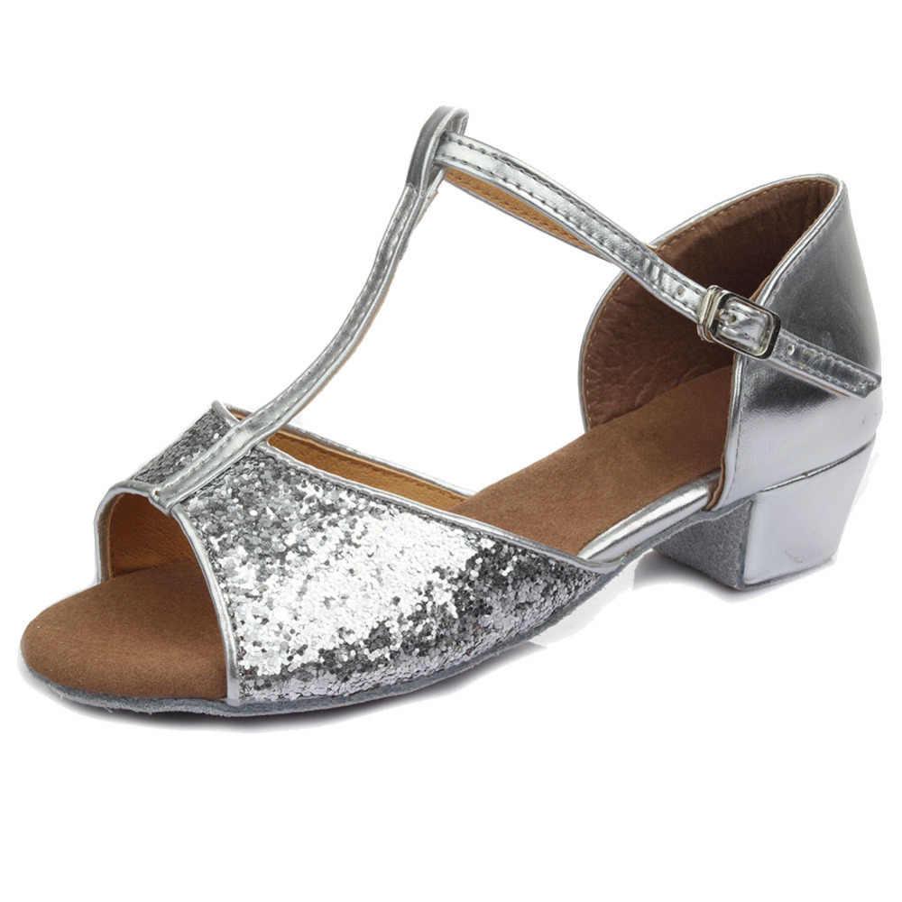 Lurryly Girls Children Kids Ballroom Tango Salsa Latin Dance Shoes Sandals
