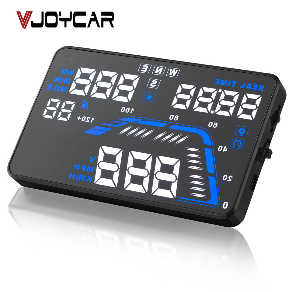 """Prix pour VJOYCAR Q7 5.5 """"Universal Auto Véhicule GPS HUD Vitesse Odomètre Head UP Display Numérique De Voiture Compteur De Vitesse Alerte de Survitesse"""