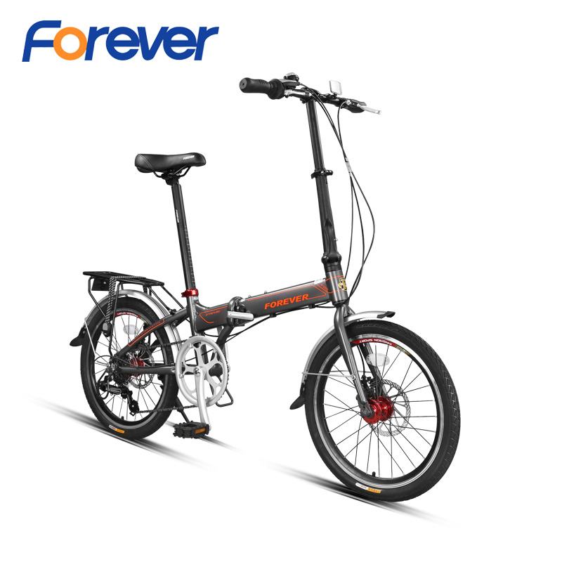 FOREVER Folding Bicycle 7 speed Al alloy Frame  Double Disc Brake Bike Road Cycle Variable Speed Bike Foldable Mini Bike 20inFOREVER Folding Bicycle 7 speed Al alloy Frame  Double Disc Brake Bike Road Cycle Variable Speed Bike Foldable Mini Bike 20in