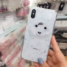 Liquid Heart Glitter Powder Phone Cases For iPhone X XS Max XR 6 6s 7 8 Plus Smile Face Clouds Soft TPU Dynamic Beads Back Cover