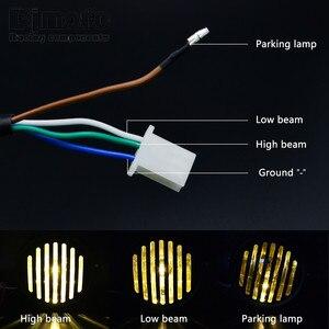 "Image 2 - Headl אור להארלי 6.5 ""אופנוע פנס הקרנת מנורת עבור הונדה ימאהה קוואסאקי ופר Bobber סיור קפה רייסר"
