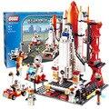 City Spaceport Space The Shuttle Launch Center 679Pcs Bricks Building Block Educational Toys For Children Legoings 8815