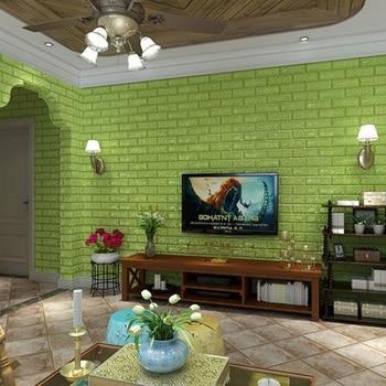 60x60 cm PE Foam 3D Wall Stickers Home Improvement Rental housing necessary Wall Decoration Wall Brick Wall Living Room 2