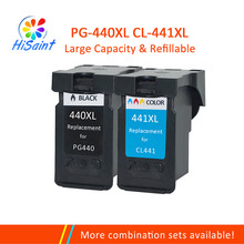 цена на Hisaint For Canon PG440 Ink Cartrdge PG-440 pg 440 440XL for MX374 MX394 MX434 MX454 MX474 MX514 MX524 MX534 MG214 MG2240 MG3120