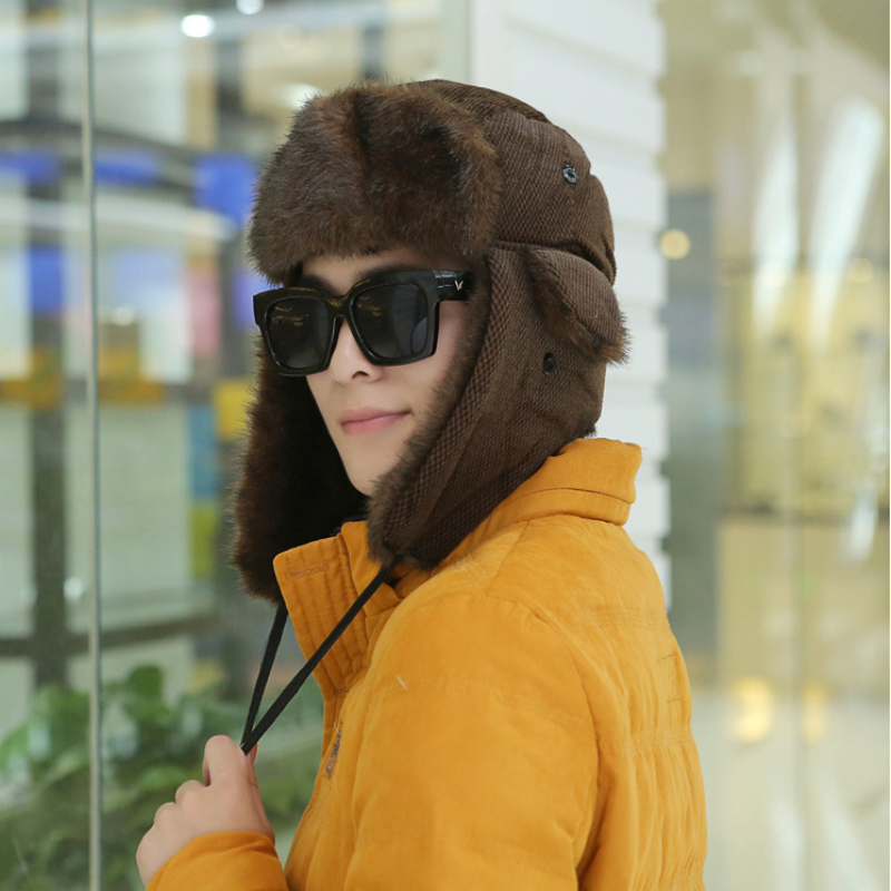 a203fba3340 HT541 Fashion Plaid Winter Hats for Women Hot Sale Winter Bomber Hats  Unisex Warm Russian Hats Fancy Earflap Trapper Hat-in Bomber Hats from  Apparel ...
