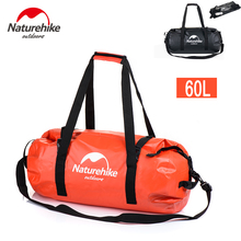 Free Shipping To Worldwide Naturehike New Rafting Bag Outdoor Camping Hiking Sport Waterproof Bags Big Capacity Dry Bag 60L