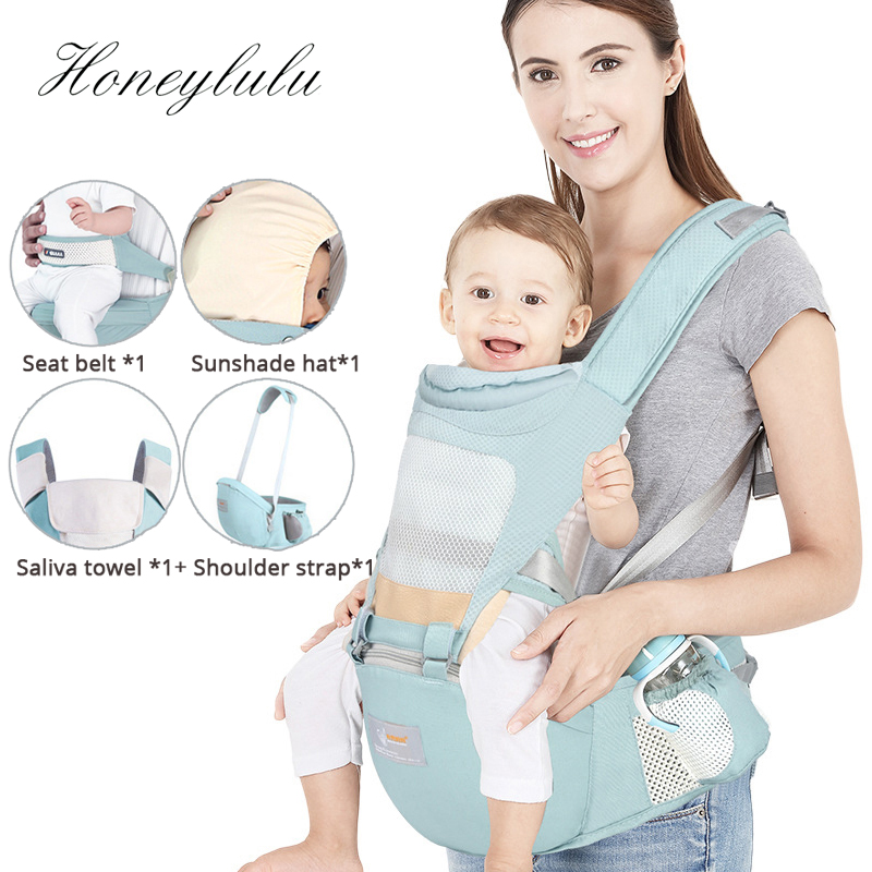 Honeylulu Portable Seat Belt Baby Carrier 3D Honeycomb Mesh Fashion Sling For Newborns Ergoryukzak Backpack Kangaroo For Baby