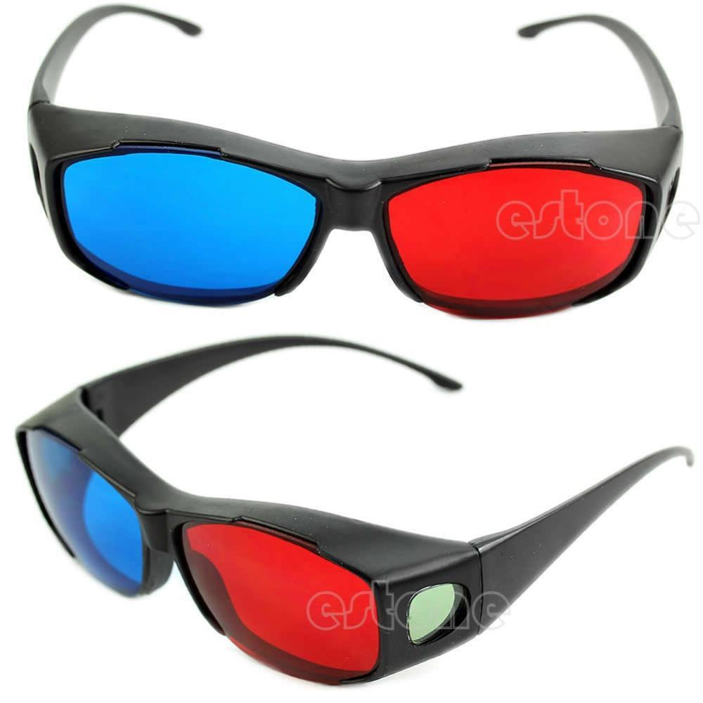 New Red Blue 3D Glasses Frame For Dimensional Anaglyph ...