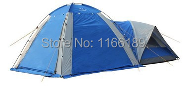 2014 New Big 1hall 1room 5-8 persons large family party Camping tent Double Layer for outdoor Shade use 3doors high quality professional camping tent suitable for 2 3persons double layer anti big rain 1hall 1room outdoor family tent