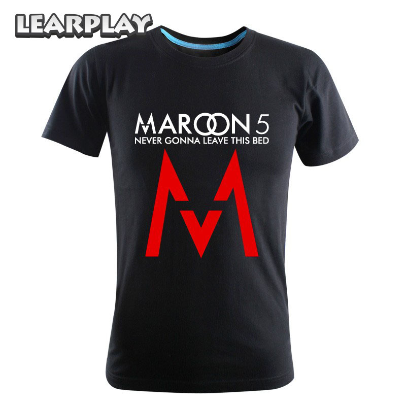 Maroon 5 Rock Music Summer Round Collar Short Sleeve T-shirt Costume