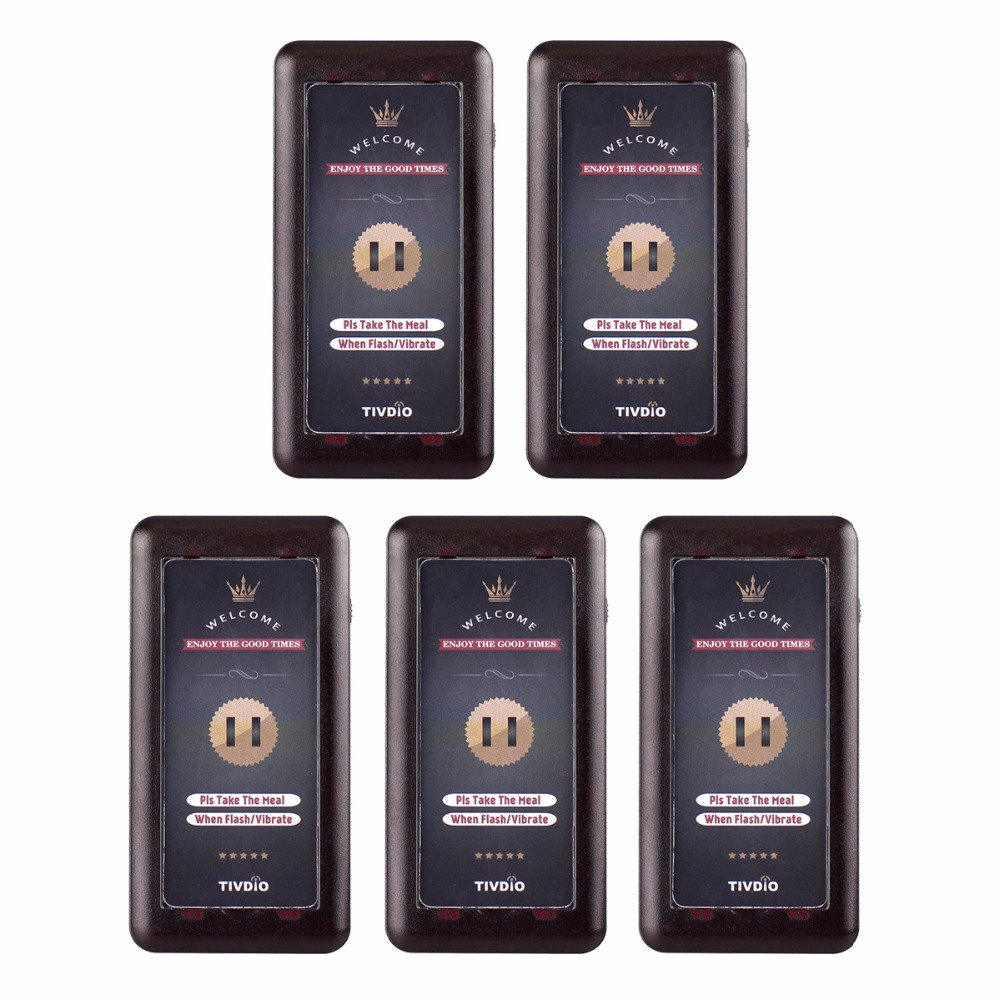 5pcs Coaster Pager Receiver for Wireless Pager Restaurant Calling Paging Queuing System Catering Equipment F3321A 20pcs call transmitter button 3 watch receiver 433mhz 999ch restaurant pager wireless calling system catering equipment f3285c