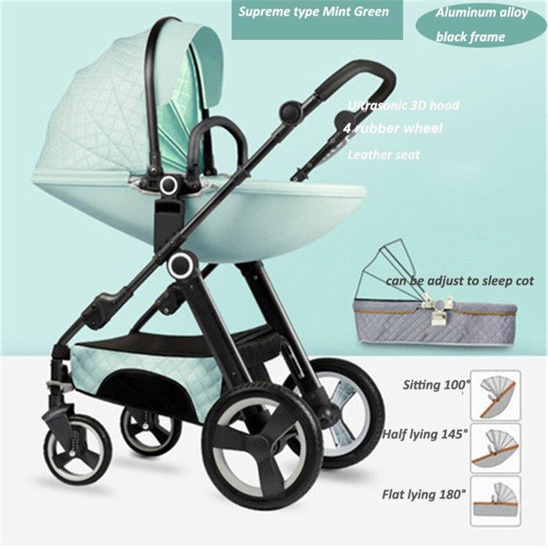 Livraison gratuite haute paysage luxe bébé poussette nouveau-né Buggy 0-36 mois poussette bébé chariot