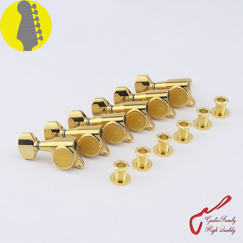 original genuine 6 in line gotoh sg381 07 left hand guitar machine heads tuners gold made in. Black Bedroom Furniture Sets. Home Design Ideas
