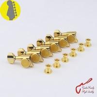 Original Genuine 6 In Line GOTOH SG381 07 Left Hand Guitar Machine Heads Tuners Gold MADE