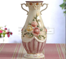 цена на ceramic cerative rose flowers vase pot home decor crafts room decorations handicraft porcelain figurines weeding decorations