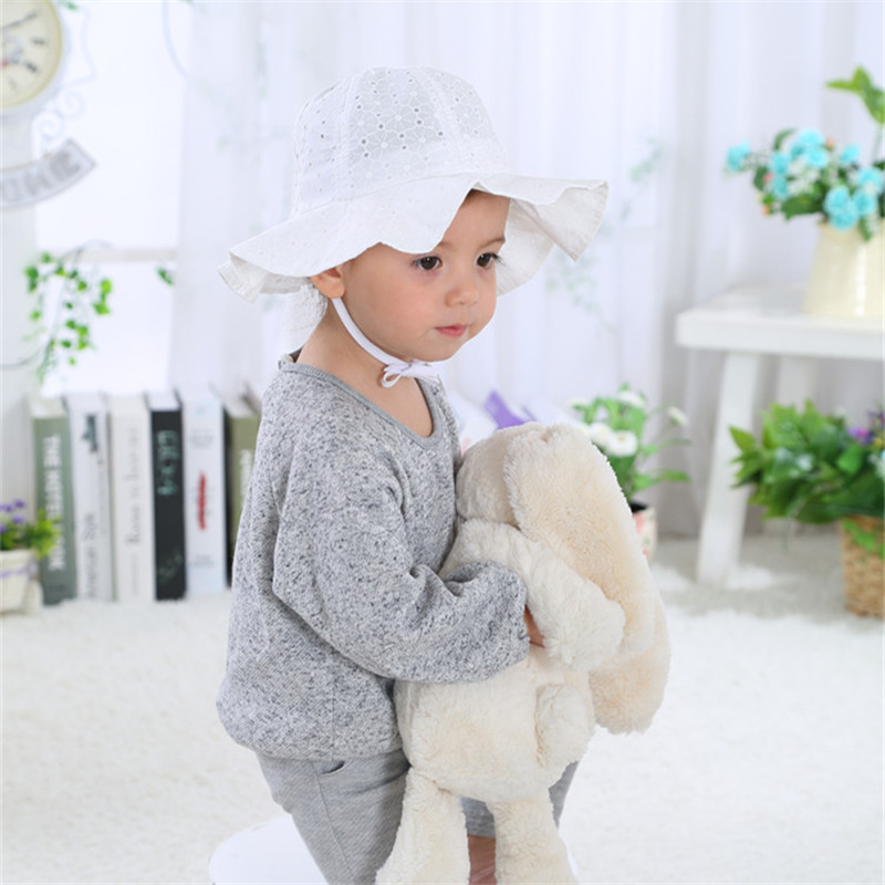8979b3aed46 Summer Baby Girls Sun Hats Children Cotton Bucket Caps Autumn Baby Hat Kids  Cap New Fashion Beach Sun Cap for Girls-in Hats   Caps from Mother   Kids  on ...