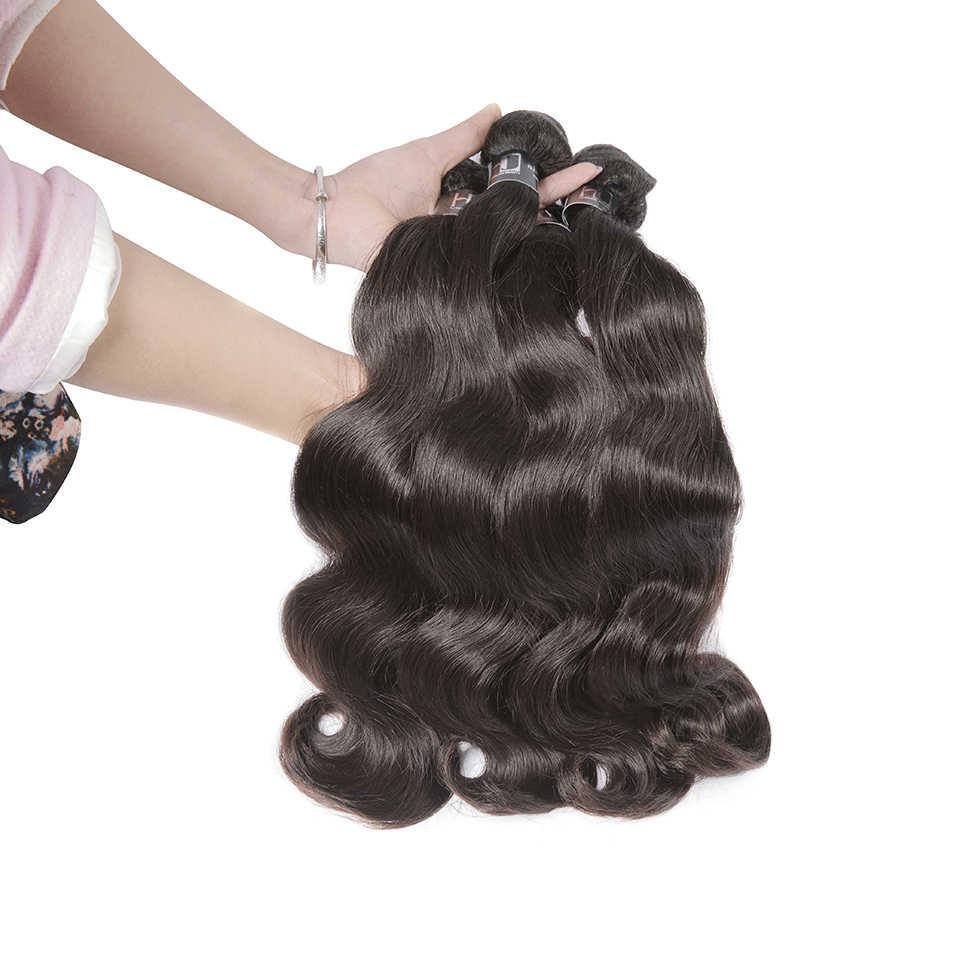 Brazylijski włosy wyplata wiązki 8-30 cal ciało fala wiązki ludzkich włosów 7A Remy do przedłużania włosów 1/3/4 PCS podwójne ciągnione wątek