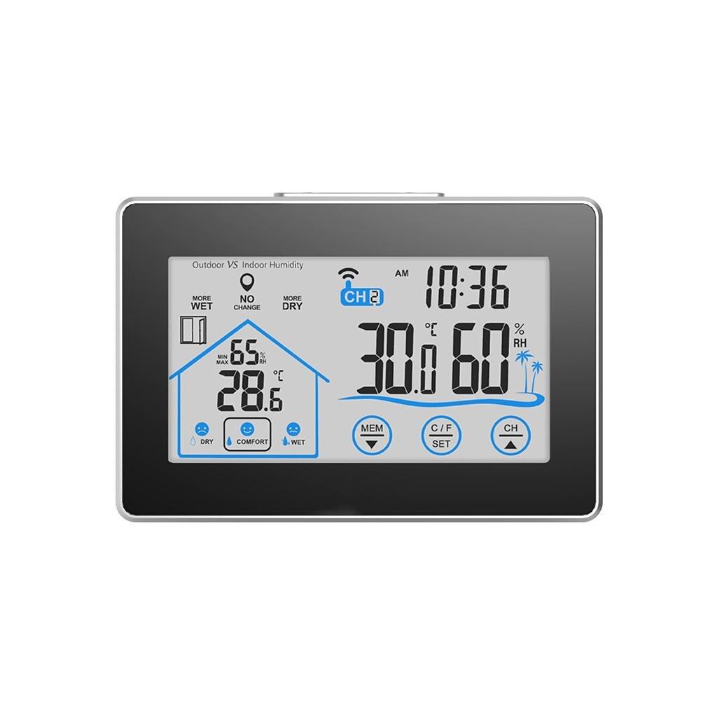 0f1602df3 Estación Meteorológica Inalámbrica pantalla táctil del higrómetro del  termómetro de interior al aire libre de Wifi