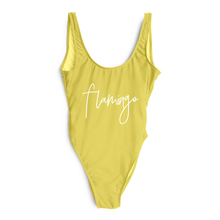 Sexy One Piece Swimsuit Flamingo Letter Print 2019 Swimwear Women Summer Beachwear Lady Pink Bathing Suit mayo badpak Swim Suit