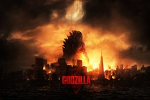 godzilla gareth edwards 2014 science fiction movie Poster Fabric Silk Poster Print Great Pictures On The Wall IIWW190