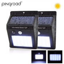 Solar Power Rechargeable LED Light 20/30 Leds Outdoor Motion Sensor Wall Garden Yard Waterproof Lamp 2PCS SL025