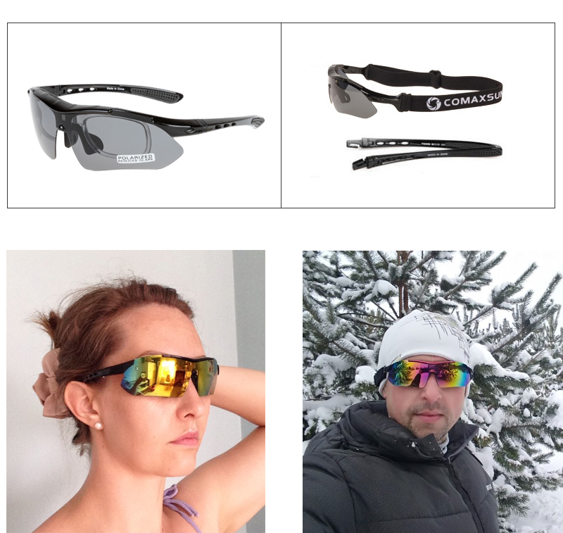 HTB1lDF3ayfrK1RjSspbq6A4pFXae COMAXSUN Professional Polarized Cycling Glasses Bike Goggles Outdoor Sports Bicycle Sunglasses UV 400 With 5 Lens TR90 2 Style
