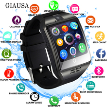 цены на 2019 Bluetooth Smart Watch Q18 With Camera Facebook Whatsapp Twitter Sync SMS Smartwatch Support SIM TF Card For IOS Android  в интернет-магазинах