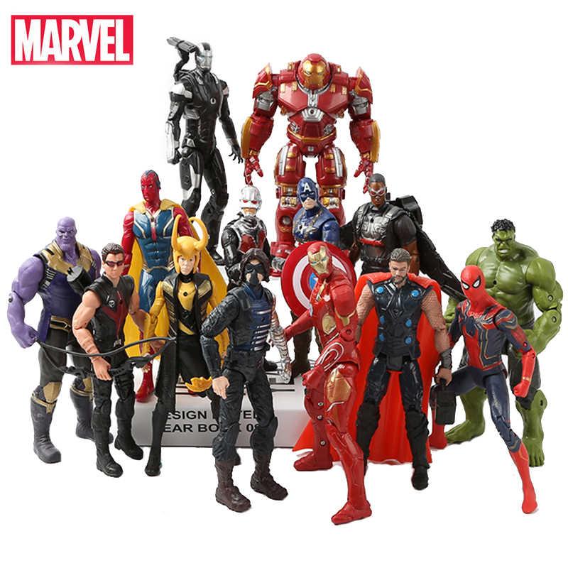 Hasbro Marvel Мстители игрушки Фигурки 16 см герой куклы Железный человек паук Халк Тор танос украшения модель детская игрушка, подарок