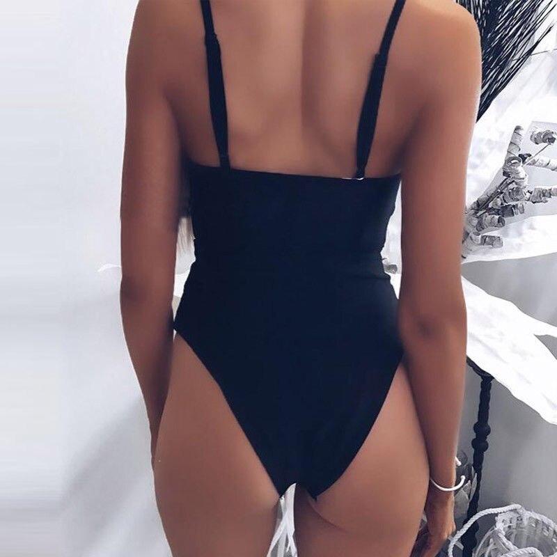 Bikini 2019 Women Padded One Piece Bandage Bikini Push Up Monokini Swimsuit Bathing Suit Swimwear Set 3