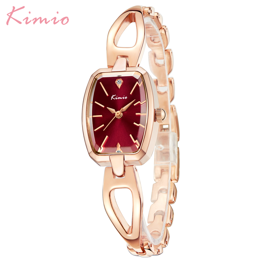 Top Brand Kimio Fashion Women Watches Square Dial Dress Ladies Bracelet Wristwatch Quartz Clock Relogio Feminino Female Gift Box