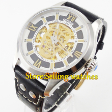 43mm Parnis Sapphire glass Gold miyota Automatic Movement Men's Watch