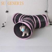 Hot Giocattoli Pet Per Il Gatto Tunnel Pet Supplies 3 WAY Y forma Più Divertimento Tunnel Puppy Cani possono pieghevole Pet Giocattoli di puzzle