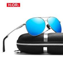 H2OR3 Classic Pilot Polarized Sunglasses Men Driving Sun Glasses Fashion Women Male Mirror Glasses High Quality UV400 8013
