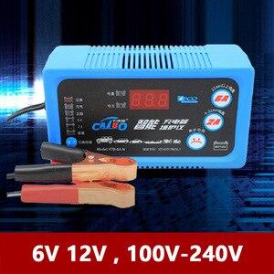 Зарядное устройство для аккумулятора мотоцикла, 6 в, 12 В, ЖК-дисплей напряжения, 2 А, 6 А, свинцово-кислотный AGM 110 В, 220 В, автомобильный двигател...