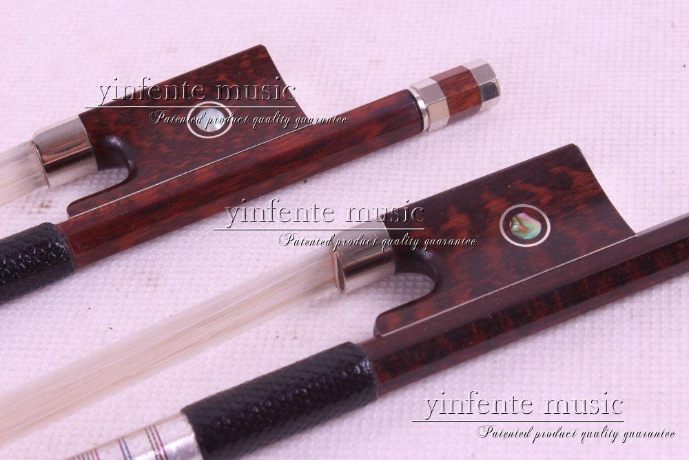 Violin Bow  Pernambuco Performance Snake Wood Round Stick New 4/4 1 pcs  Dot inlay #13 1 pcs brazilwood violin bow 4 4 straight best model fr og round stick xd 033