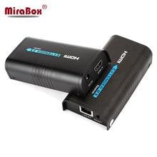MiraBox HDMI удлинитель через сплиттер IP/TCP UTP/STP CAT5e/6 Rj45 LAN Поддержка сети 1080p 120 м HDMI передатчик и приемник
