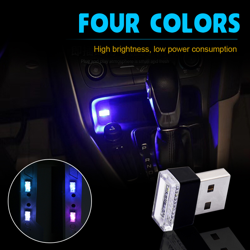5 colors Car Styling USB Atmosphere <font><b>LED</b></font> Lamp For <font><b>Renault</b></font> Megane 2 Logan <font><b>Captur</b></font> Alfa Romeo 159 Chevrolet Cruze Car Accessories image